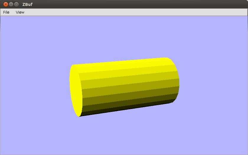 Cylinder drawn using z-buffer