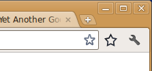 Screenshot of the star that YAGBE puts in the toolbar